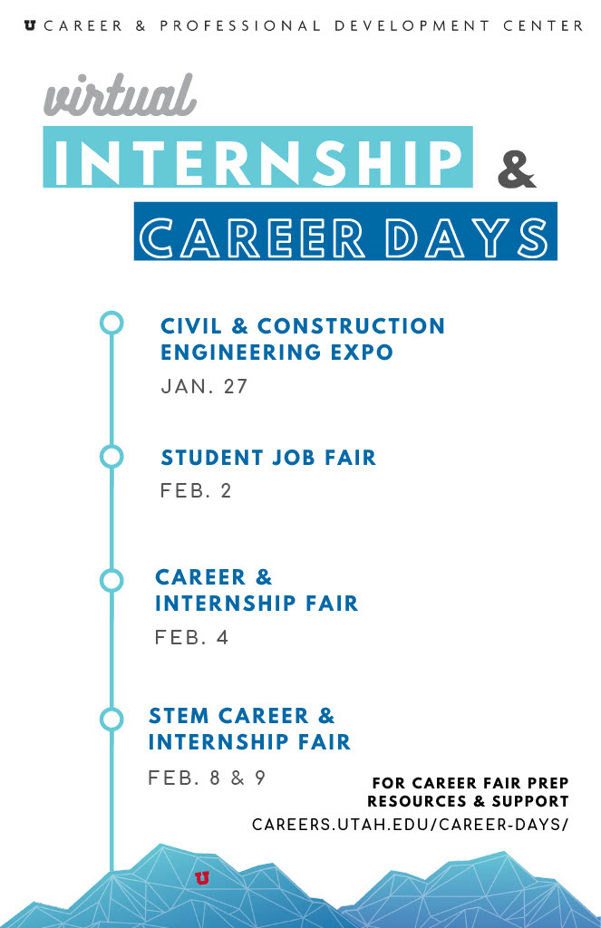 poster announcing intern and career days