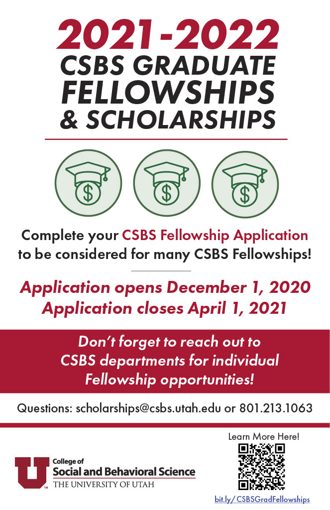 poster about scholarships offered through FCS and CSBS